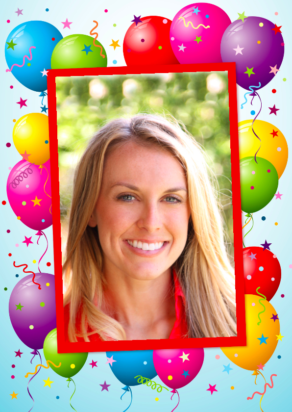 Verjaardagskaarten - Ballonnenkaart Confetti Foto