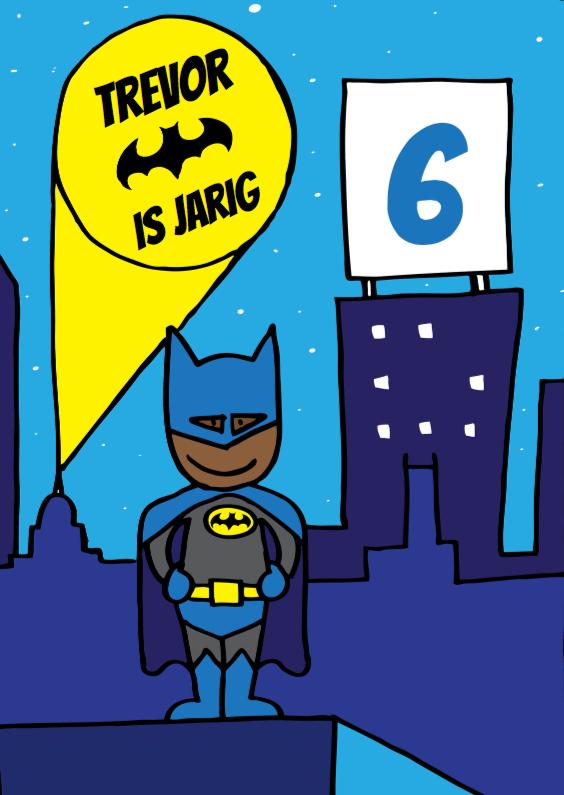 Verjaardagskaarten - batman verjaardag jongen