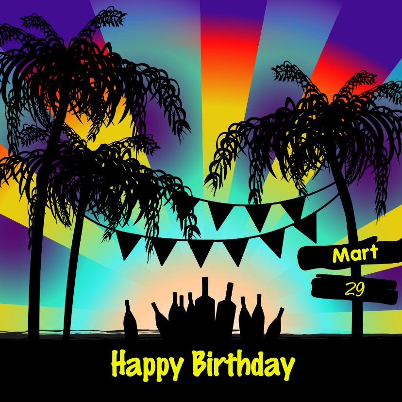 Verjaardagskaarten - BEACH PARTY verjaardag
