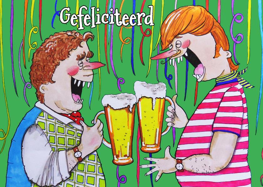 Verjaardagskaarten - Biertje slingers