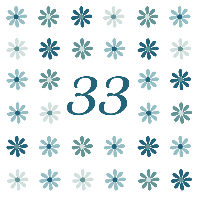 Verjaardagskaarten - bloemen leeftijd2