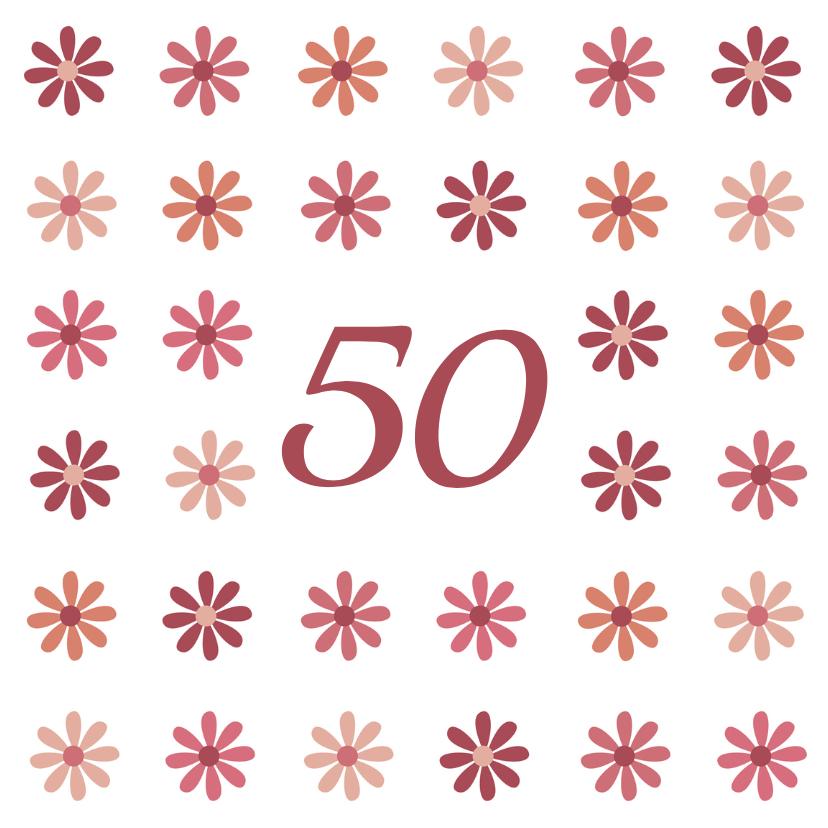 Verjaardagskaarten - bloemen leeftijd4