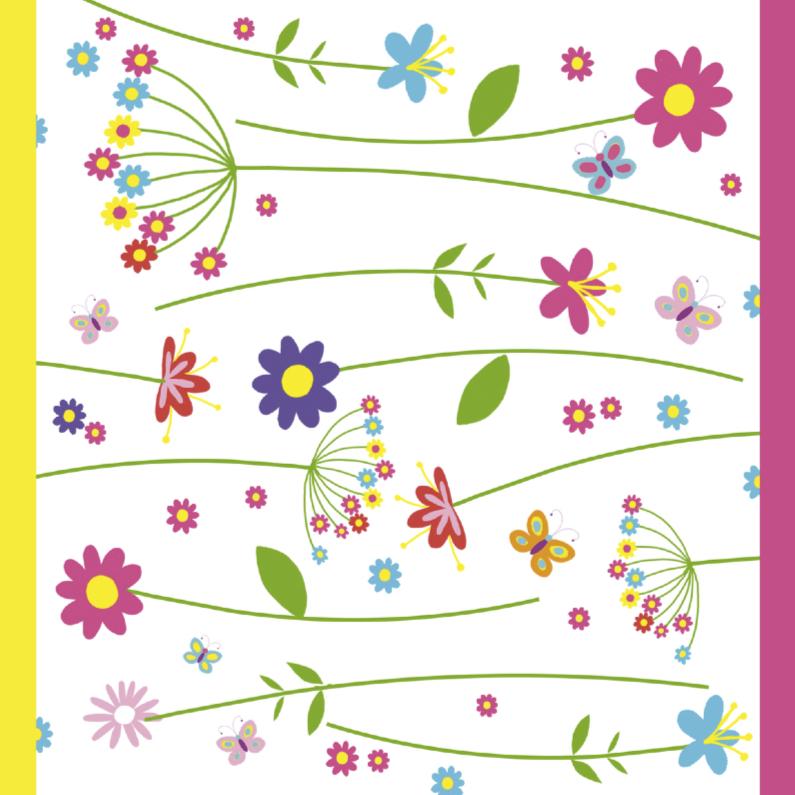 Bloemenkaart in felle kleuren bloemenkaarten kaartje2go - Felle kleuren ...