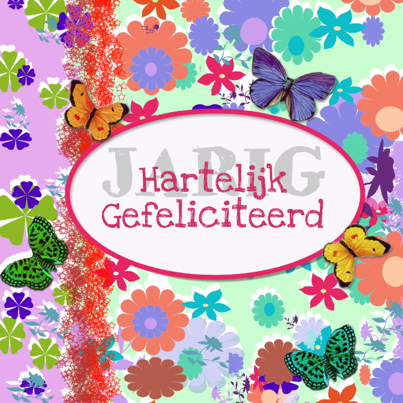 Verjaardagskaarten - Bloemenkaarten collectie Linde