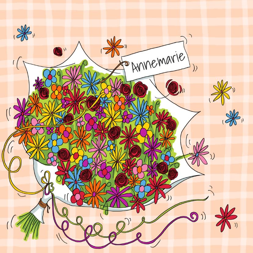 Verjaardagskaarten - Bos bloemen verjaardag