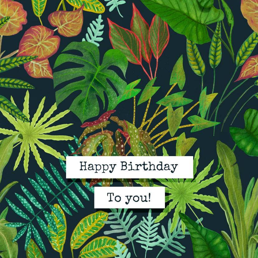 Verjaardagskaarten - Botanische verjaardagskaart