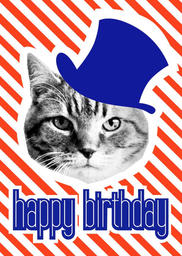 Verjaardagskaarten - Brandal birthday hat