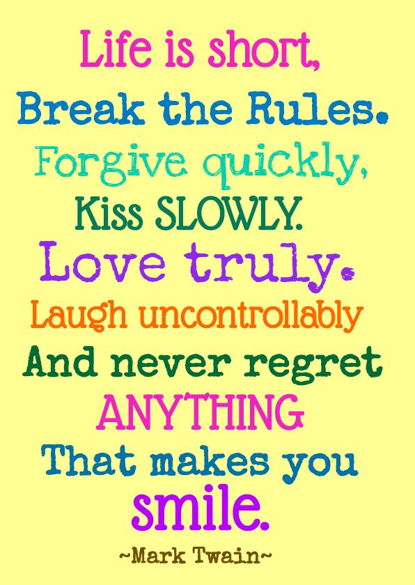 Verjaardagskaarten - Break the rules