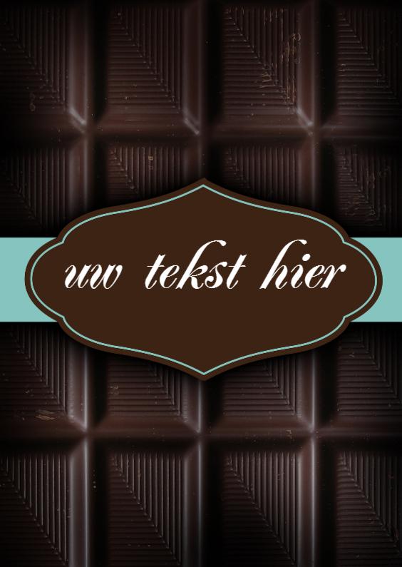Verjaardagskaarten - Chocoladereep verjaardagskaart
