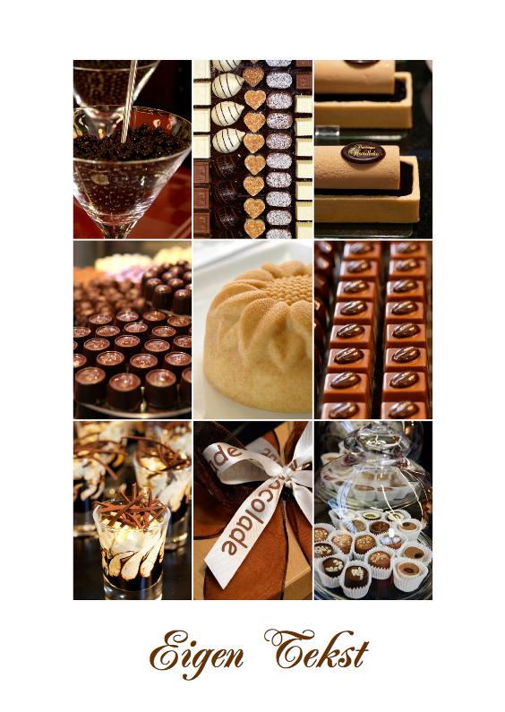 Verjaardagskaarten - Collage Chocolade
