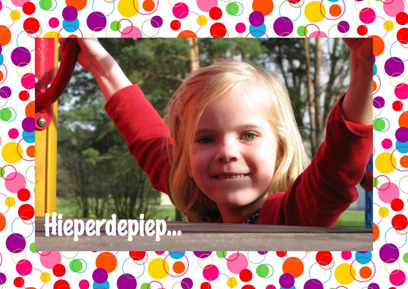 Verjaardagskaarten - Confettikader Eigen Foto