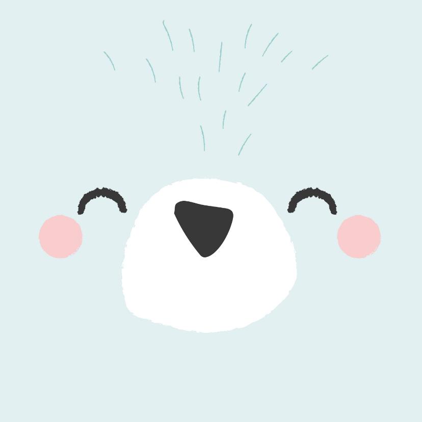Verjaardagskaarten - Coole verjaardagskaart met het gezicht van een ijsbeer