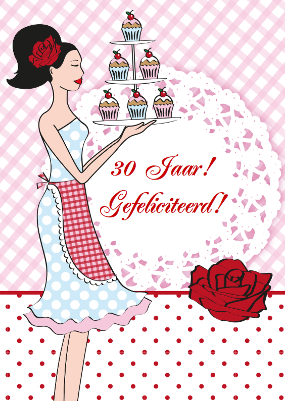 Verjaardagskaarten - Cupcake Birthday Girl
