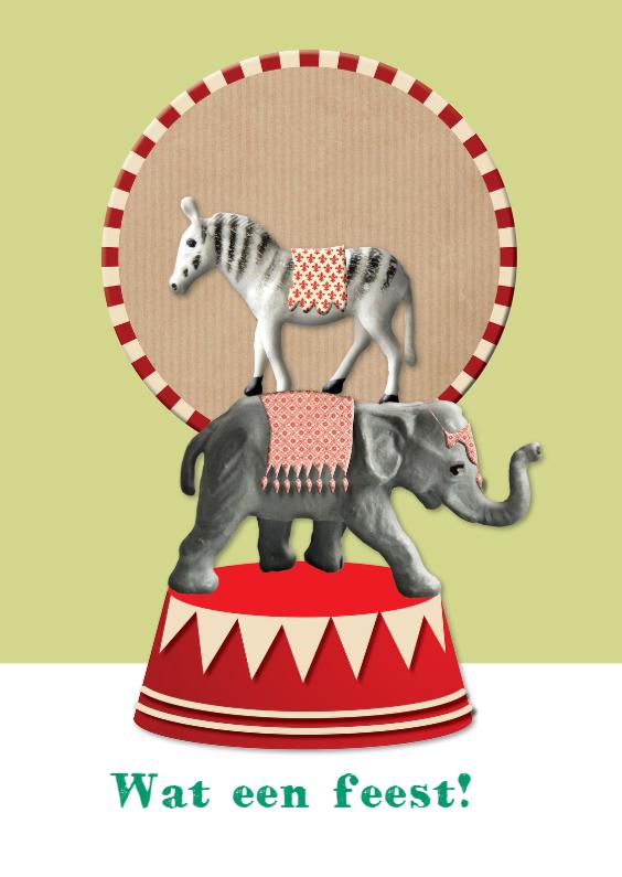 Verjaardagskaarten - Dans le cirque
