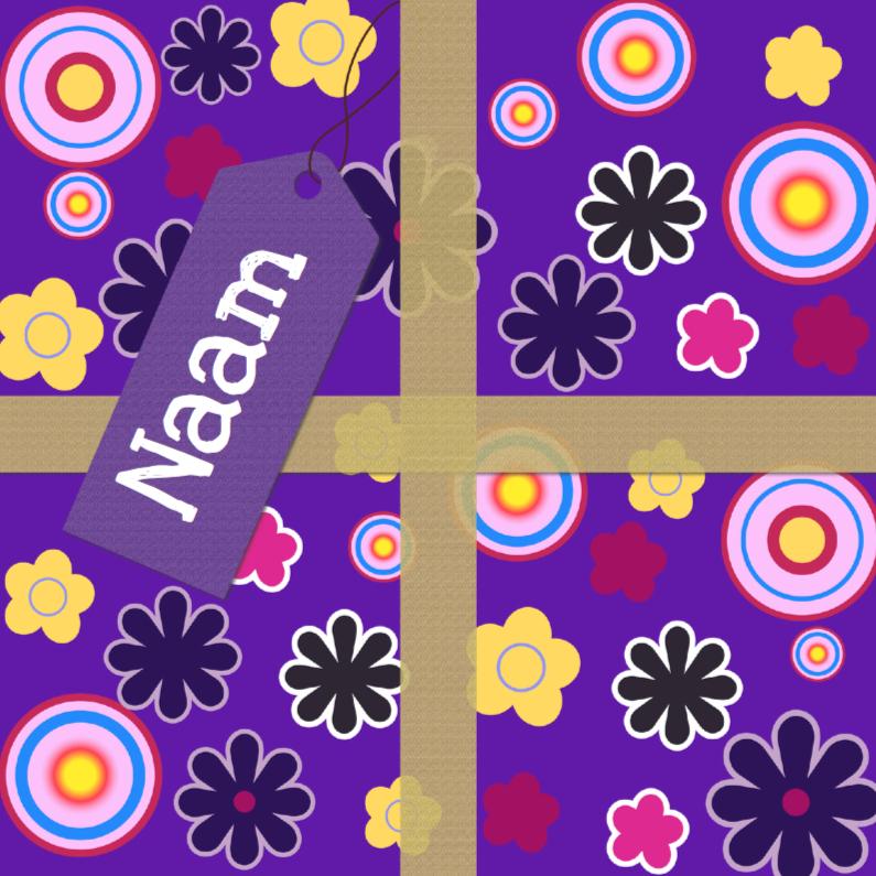 Verjaardagskaarten - De kaart als het kado met bloemen2