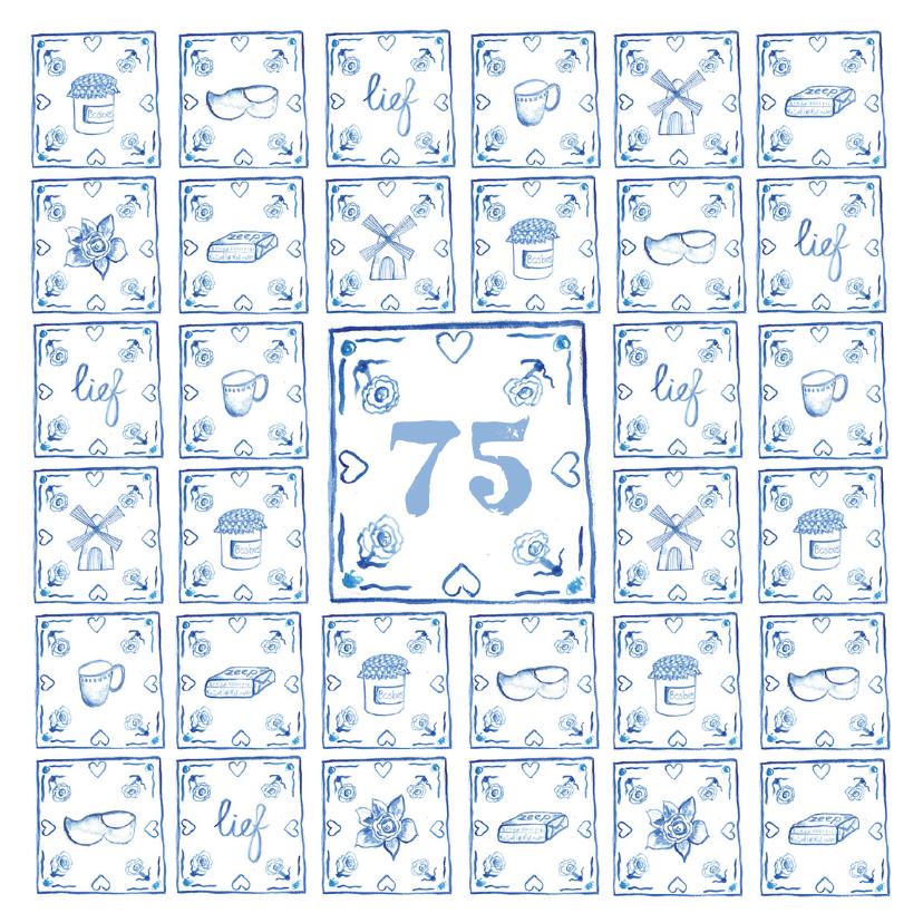 Verjaardagskaarten - Delfts blauw verjaardagskaart