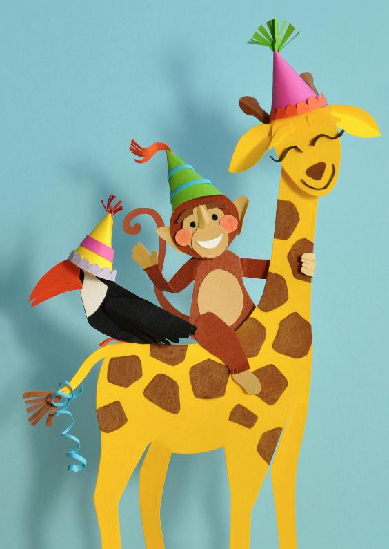 Dieren Feestje Verjaardagskaarten Kaartje2go