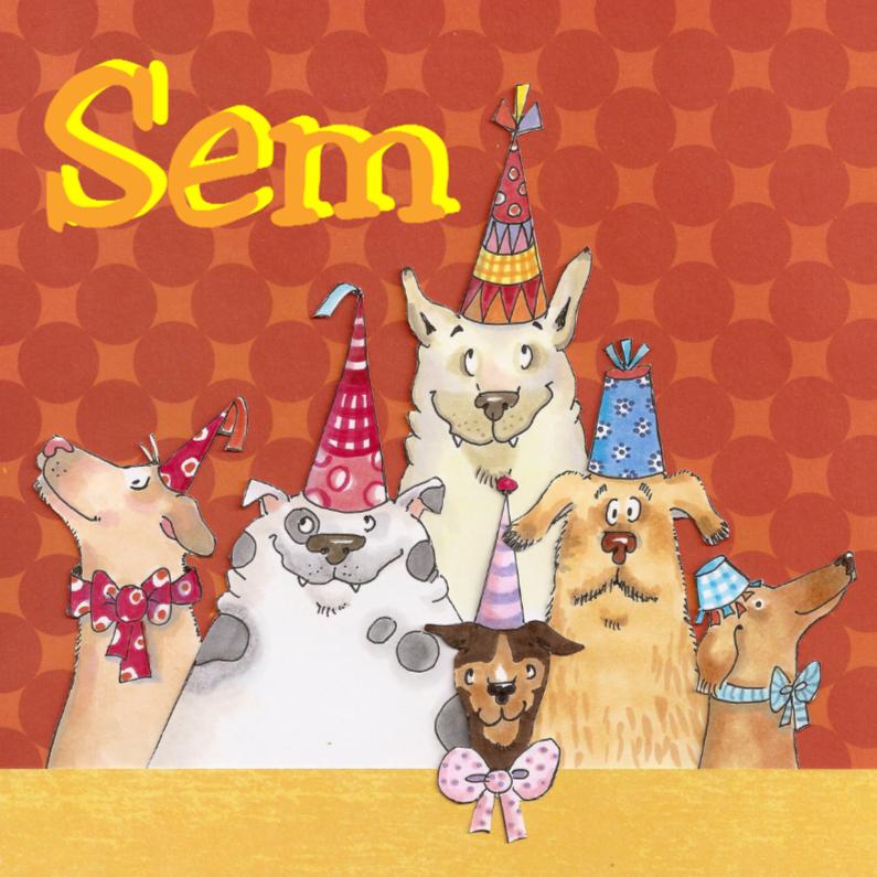 Verjaardagskaarten - Dog party