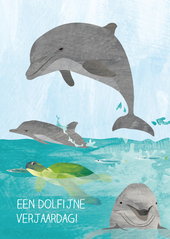 Verjaardagskaarten - Een dolfijne verjaardag