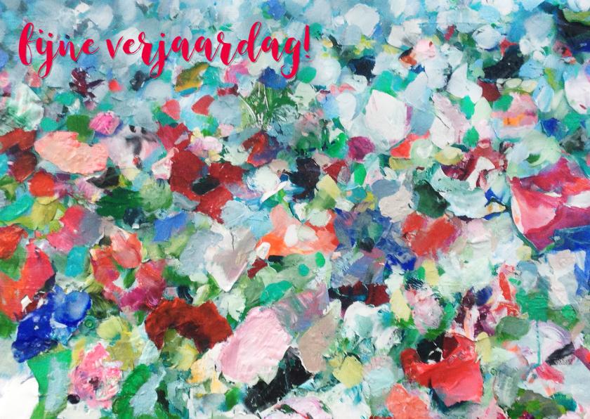 Verjaardagskaarten - Eigen tekst vrolijk bloemenveld