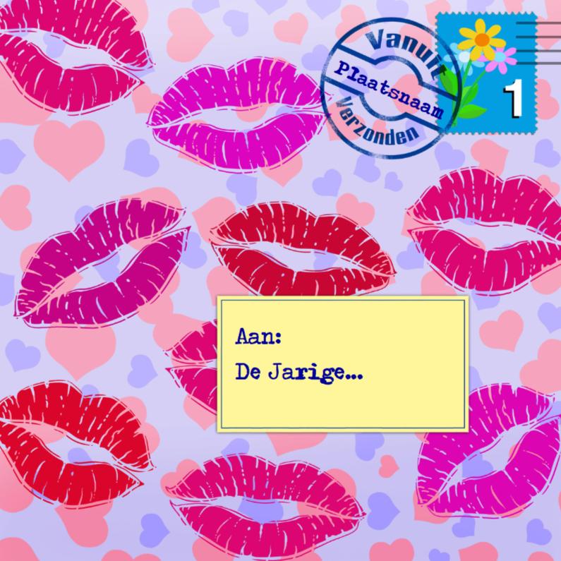Verjaardagskaarten - Enveloppe met kussen