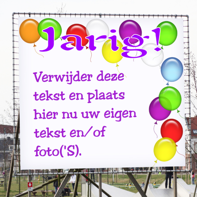 Verjaardagskaarten - Feest Jarig reclamebord