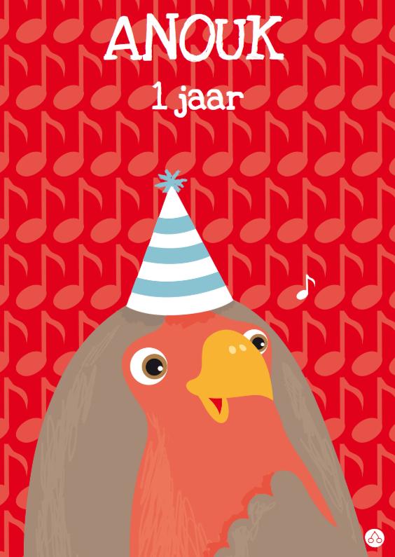Verjaardagskaarten - Feest Vogeltje kind