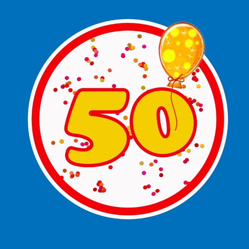 Verjaardagskaarten - Felicitatie 50 jaar algemeen