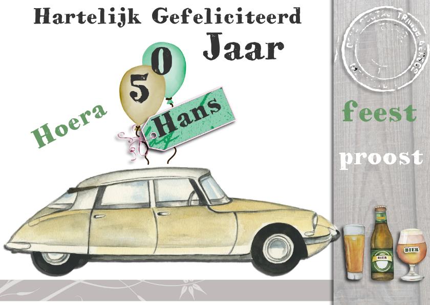 Verjaardagskaarten - felicitatie 50 jaar met snoek