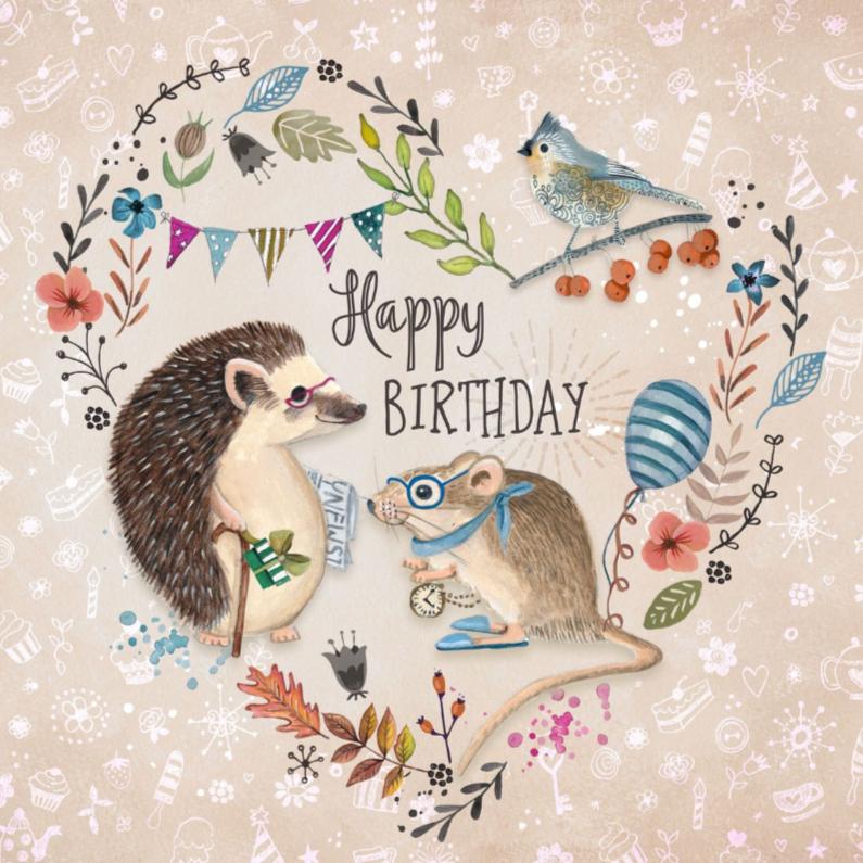 Verjaardagskaarten - Felicitatie Dieren Bloemen