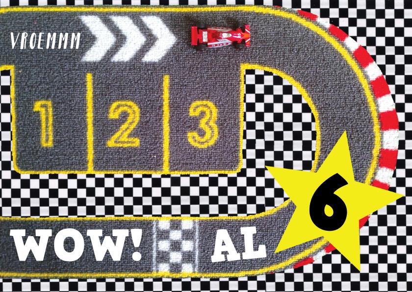 Verjaardagskaarten - Felicitatie kaart verjaardagskaart jongen auto