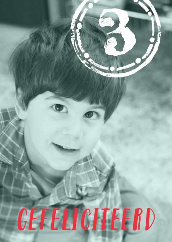 Verjaardagskaarten - Felicitatie leeftijd stempel fotokaart