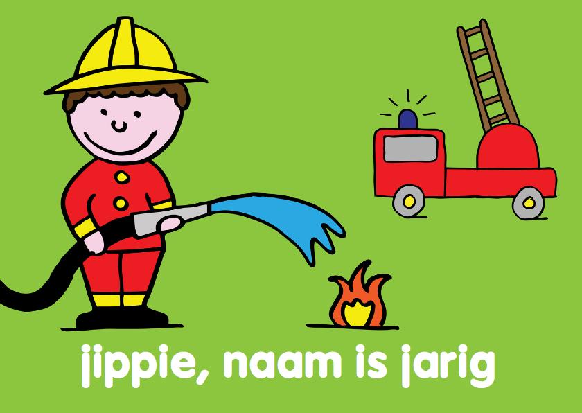 Verjaardagskaarten - felicitatie verjaardag jongen brandweer