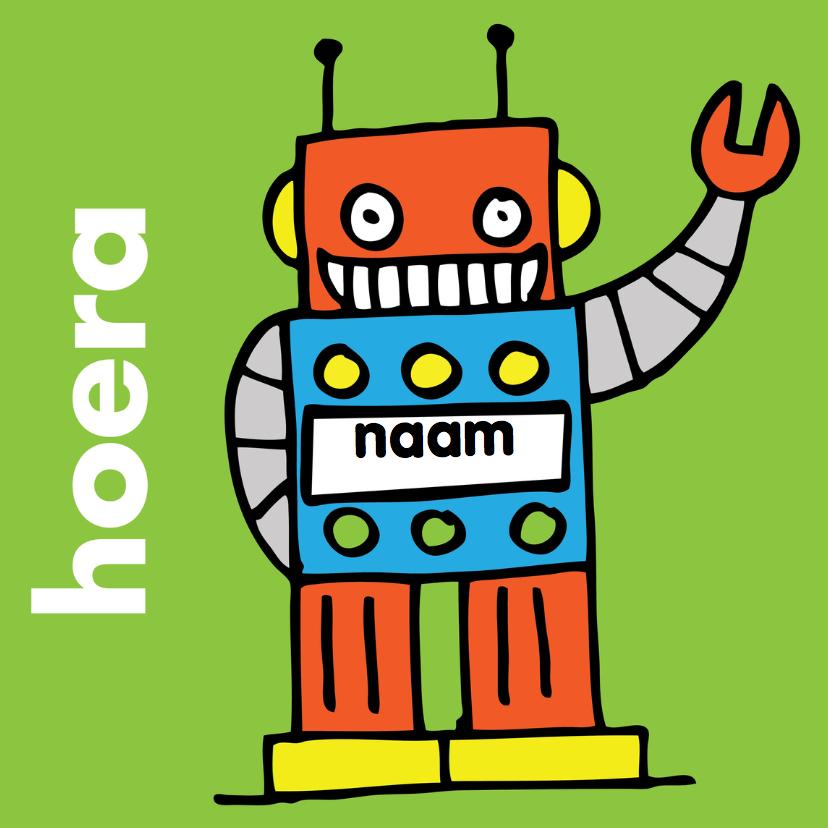 Verjaardagskaarten - felicitatie verjaardag jongen robot