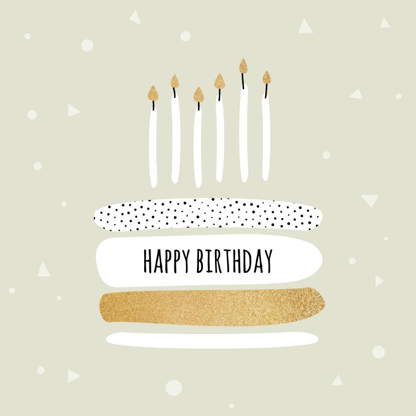 Verjaardagskaarten - Felicitatiekaart met taart