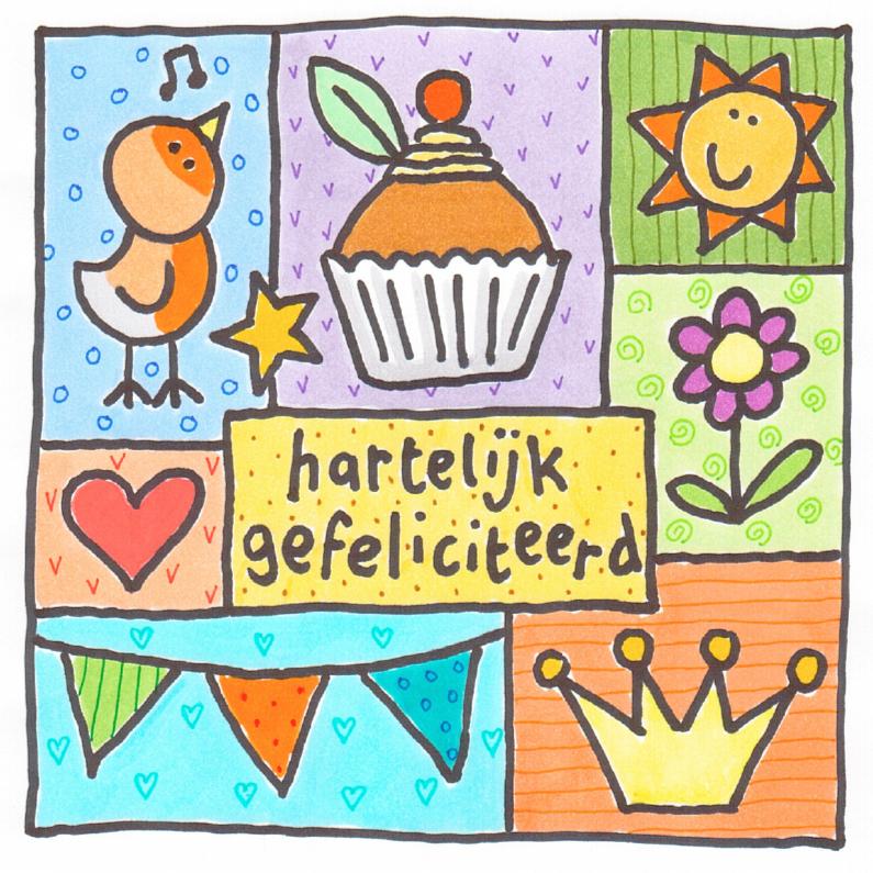 Verjaardagskaarten - Felicitatiekaart neutraal