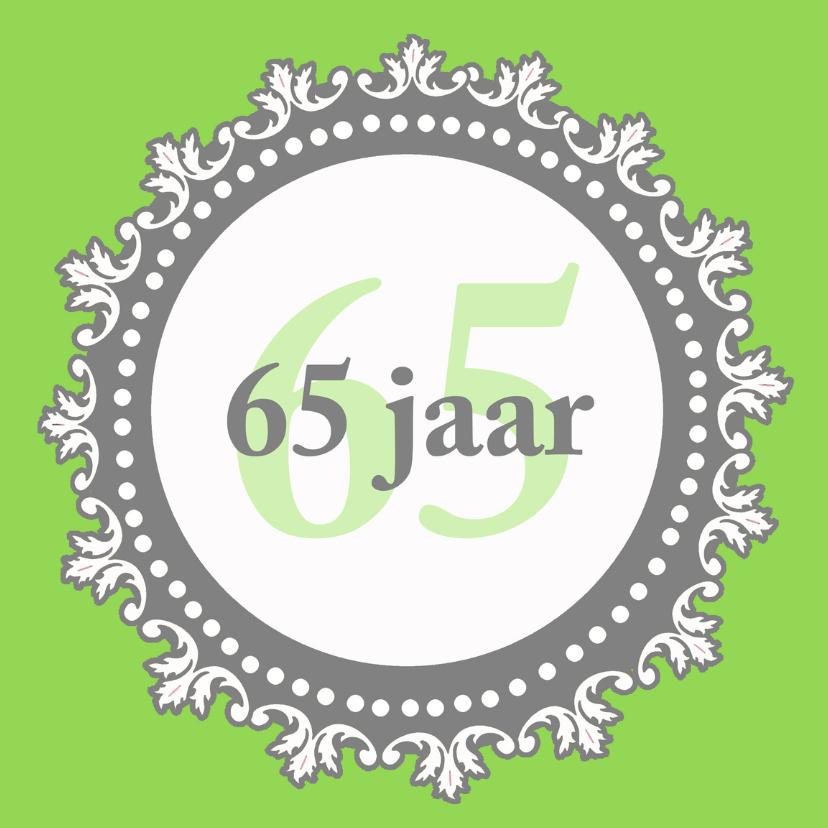 Verjaardagskaarten - Felicitatiekaart pensioen 65