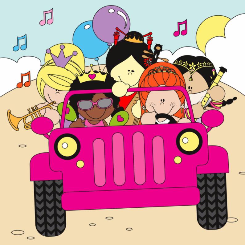 Verjaardagskaarten - Felicitaties van de 5 prinsesjes