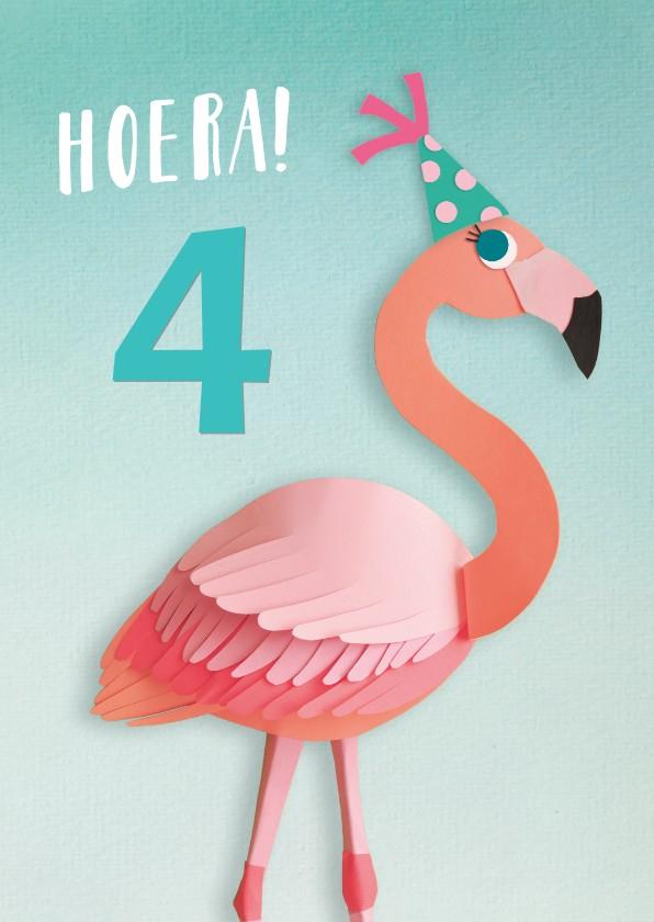 Verjaardagskaarten - Flamingo verjaardagskaart