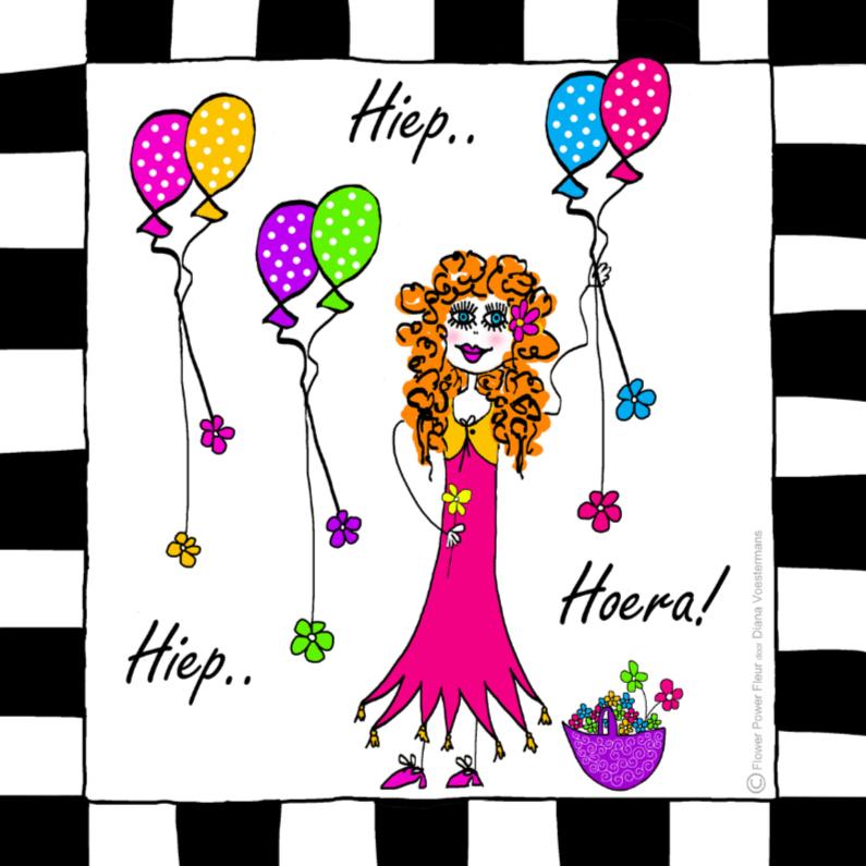 fleur hiep hiep hoera verjaardagskaarten kaartje2go