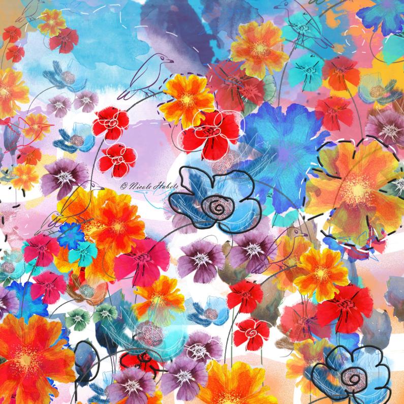 Verjaardagskaarten - Flower Garden-nicolehabets