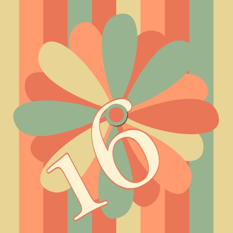 Verjaardagskaarten - flower16