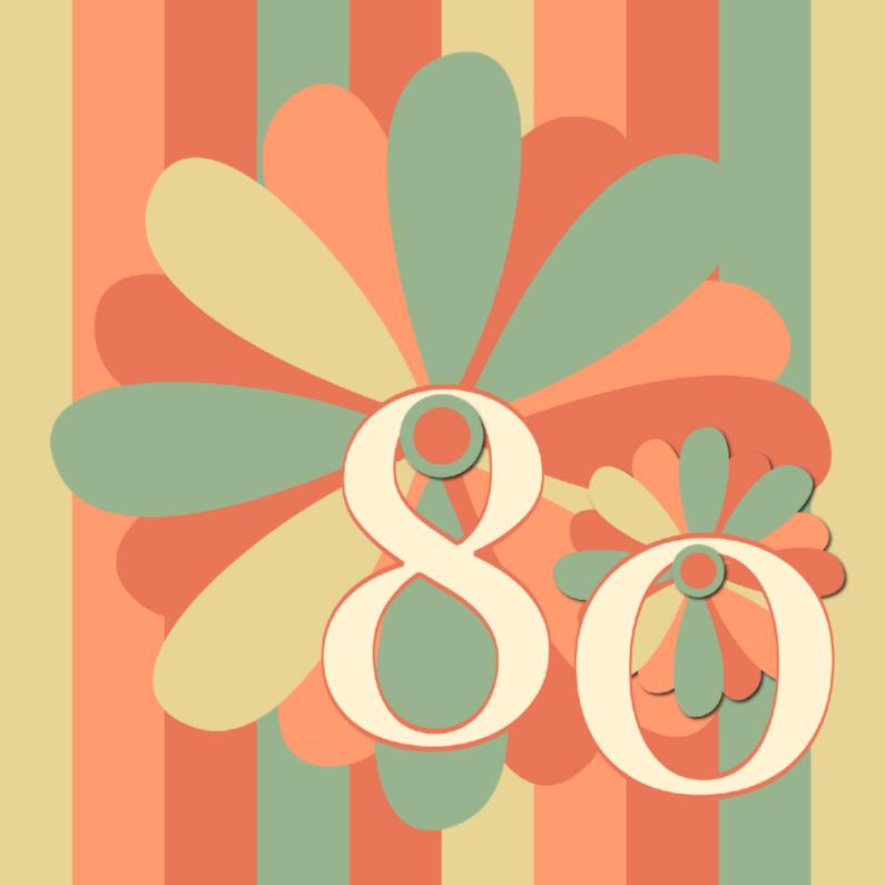 Verjaardagskaarten - flower80
