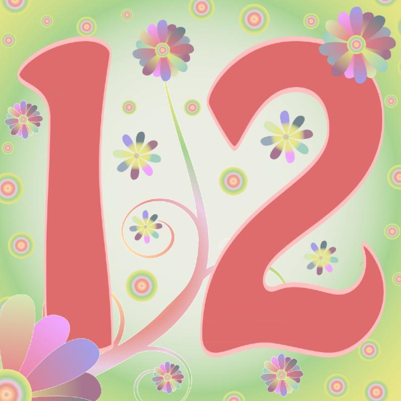 Verjaardagskaarten - flowerpower-12jaar
