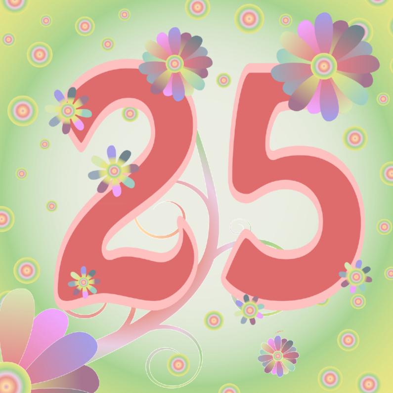 Verjaardagskaarten - flowerpower-25jaar