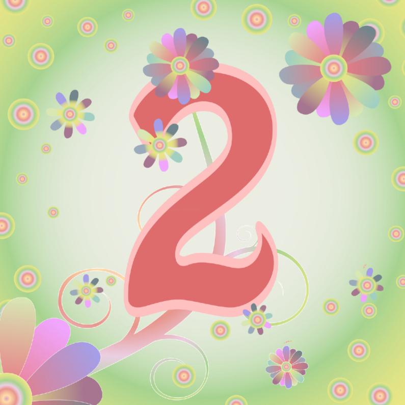 Verjaardagskaarten - flowerpower-2jaar