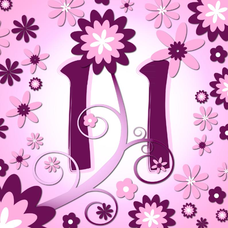 Verjaardagskaarten - flowerpower 3 - 11 jaar