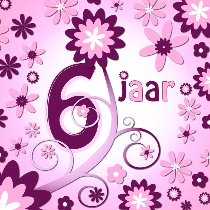 Verjaardagskaarten - flowerpower 3 - 6 jaar