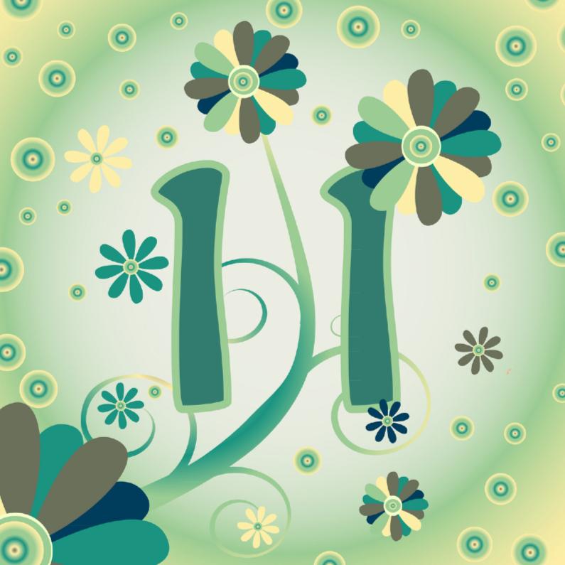 Verjaardagskaarten - flowerpower2 11 jaar