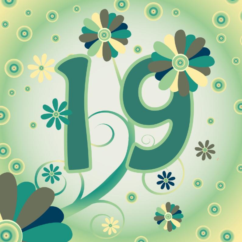 Verjaardagskaarten - flowerpower2 19 jaar